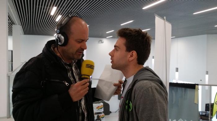 Entrevista a @capitanjavi para la cadena ser en la innauguración del You Win Zaragoza.