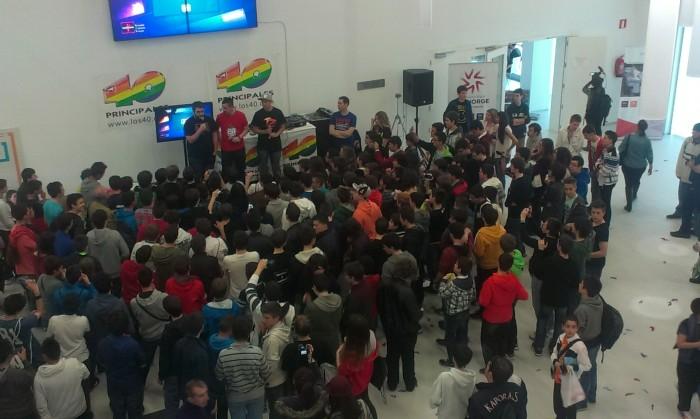 La llegada de @tonacho, @elyas 360 y @EvilAFM incendió el escenario principal del You Win Zaragoza.