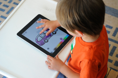 June 8, 2010 Zane, 3, tries out the new Apple iPad, in Toronto, June 8, 2010. TORONTO STAR/TANNIS TOOHEY